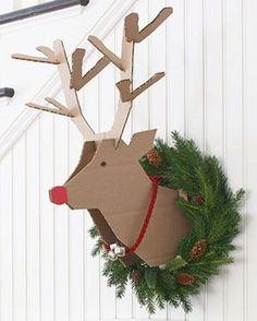Shake My Blog   Une tête de renne en carton à votre mur