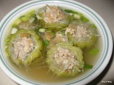 Welcome to Tevy's Kitchen: Bitter Melon soup with Pork (Sngo Mareash) Pork Recipes, Asian Recipes, Cooking Recipes, Healthy Recipes, Ethnic Recipes, Asian Foods, Chinese Recipes, Filipino Recipes, Recipies