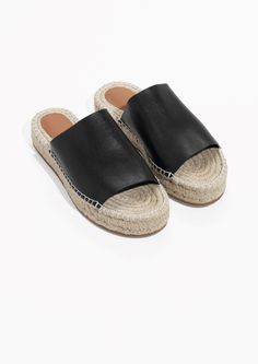 & Other Stories image 2 of Slipper Espadrilles in Black