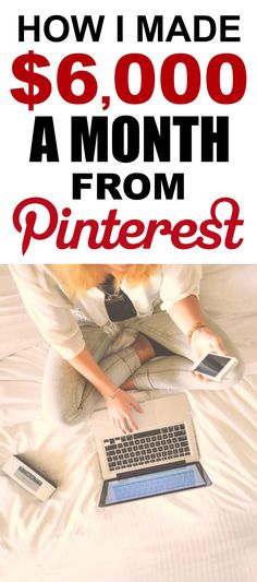 How she made Pinterest her full-time job is the best! I'm so glad I found this GREAT post! How she was able to work from home and make $6k a year is incredible! Definitely pinning for later!