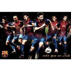 Amazon.com: FC Barcelona Players Sports Poster Print: $14.99