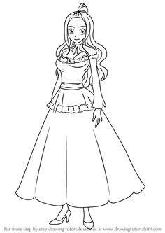 Learn How to Draw Mirajane Strauss from Fairy Tail (Fairy Tail) Step by Step : Drawing Tutorials