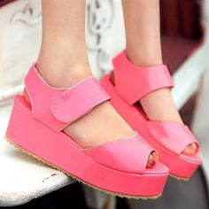 neon color/ candy color platform shoes