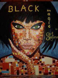 Stefano:by Black Magic /acrylic color on canvas/ fashion art Tyra Banks