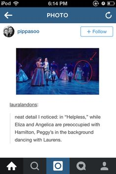 THIS IS WHY PEGGY CONFIDED IN HAMILTON BECAUSE SHE WAS CRUSHIN' ON HIS BFF @loveletslive258 omg I solved it.