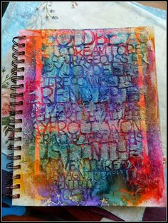 Mixed Media Art Journal page by Sherri Welser using StencilGirl stencils.