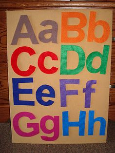 Felt board and letters
