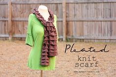 Simple Pleated Knit Scarf DIY from Make It & Love It
