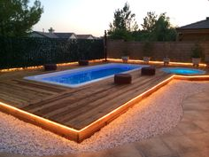 Swim spa and jacuzzi backyard zen