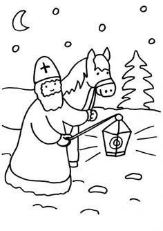 Sankt Martin: Sankt Martin mit Pferd zum Ausmalen