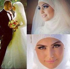 robe de mari e voil e ou mastoura on pinterest muslim wedding dresses muslim couples and rosa. Black Bedroom Furniture Sets. Home Design Ideas