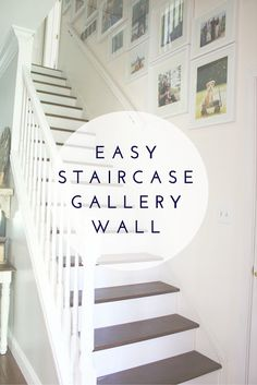 Easy Staircase Gallery Wall.