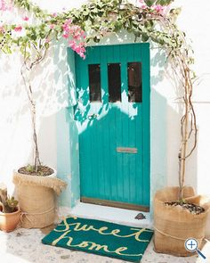 I have this on my vision board, so figured it needs to be on pinterest too. So bummed when this doormat went from backorder to unavailable. You don't even know. {pout face} I will have a tranquil entry as welcoming and colorful as this one! I will! {excited for the future face}