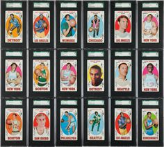 1969 Topps Basketball Complete Set (99) - #1 on the SGC SetRegistry!