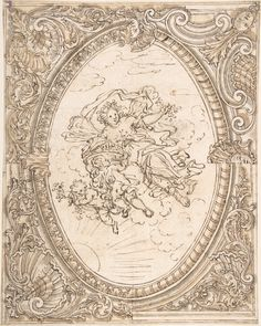 Anonymous, Italian, 17th century | Design for a Ceiling with the Allegory of Dawn | The Metropolitan Museum of Art