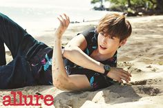 Lee Jong Seok Rolls In The Hawaiian Sand For Allure Korea's June 2015 Issue (UPDATED) | Couch Kimchi
