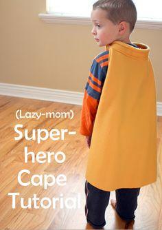 Adorable DIY superhero cape for your littles!