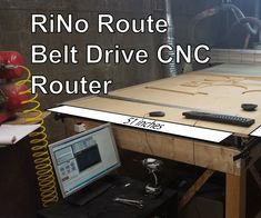 This is a walk through on building the Rino Route. A CNC router of my own design who's purpose was to be the cheapest possible option for a 4' x 8' DIY off the shelf CNC router table. At a final cost of ~$2500 I believe I have succeeded in my endeavors. Over the first year I added some features which as it stands today should put the price near $3000.More so than a how to build my machine, this Instructable should serve as a good intro to anyone looking to build a CNC machine. I h...
