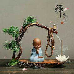 Little monk art ☸️ Baby Buddha, Little Buddha, Buddha Garden, Buddha Zen, Ulsan, Feng Shui, Meditation Altar, Buddha Temple, Asian Decor