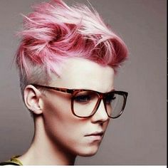Wow look at this amazing cut and color  #pixieswithglasses