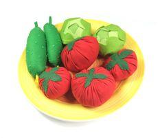 Felt Textile Vegetable Set Edu Toy Fabric Veggies For by Florfanka