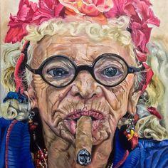 Granny Puretta, Cuba. Oil on canvas. Art by Mona Lian