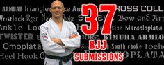 Have you ever wondered what the most popular and powerful BJJ submissions in BJJ are?  Here's our list of the top 37 submissions taught in BJJ academies all over the world.  WARNING: not all of these techniques are legal in IBJJF competition, or allowed at all schools.  But it's still...