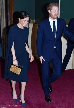 Royal Albert Hall in London as they attend The Queen's 92th Birthday Concert.    April 21st, 2018
