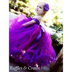 Plum Perfection Flower Girl Tutu Dress - Custom Colors at Ruffles & Cream Baby Boutique