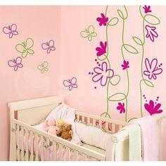 Aυτοκόλλητο τοίχου LEAVES & FLOWERS