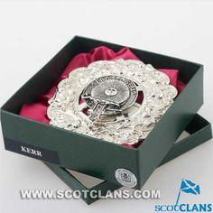 Kerr Clan Crest Plaid Brooch