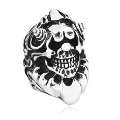 Titanium Exotic Big Skull Ring