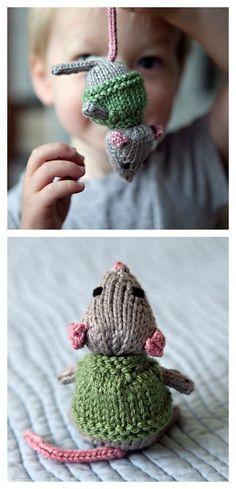 Süße gestrickte Mäuschen ! Knitted Mouse Free Pattern