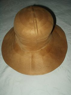 Vintage 1950 Fine Natural Straw Brim Millinery Hat No Trim Bullock Label - The Gatherings Antique Vintage