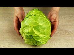 Новый САЛАТ из КАПУСТЫ!!! Это настоящий ВЗРЫВ ВКУСА. Удивительно просто и доступно! - YouTube Lettuce, Cabbage, Food And Drink, Cooking Recipes, Yummy Food, Vegetables, Youtube, Beautiful Gif, Weight Loss
