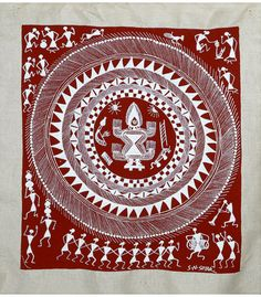 Warli or Worli art - typical themes are harvest and weddings