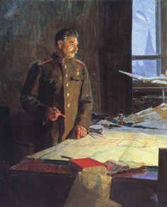 Ф.П. Решетников. Генералиссимус Советского Союза И.В.Сталин. 1948. ГТГ .jpeg