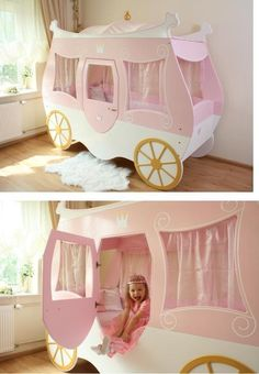 Carriage bed. So appropriate for my Trincess <3