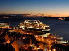 quebec city cruise dock images | Cruise ships dock at foot of Old Québec - Credit: Mathieu Dupuis