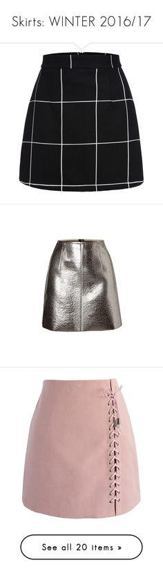 """Skirts: WINTER 2016/17"" by emilylouisehale ❤ liked on Polyvore featuring skirts, mini skirts, bottoms, saias, faldas, black, stretchy mini skirts, bodycon skirt, short skirts and short miniskirt"