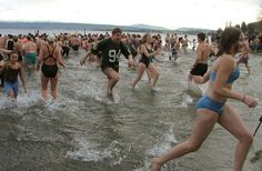 Take the plunge! Start 2013 off right with a bracing swim in Lake Washington at the Polar Bear Plunge!
