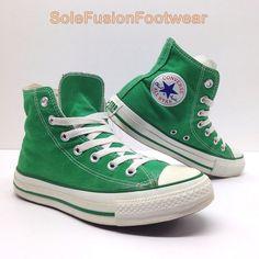 Womens Converse All Star Hi Top PUMPS 1J791 Size UK 4 Celtic Green  6eb898fda