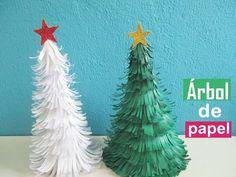 Junto con los peques de la casa vamos a preparar este bonito árbol de Navidad de papel. ¿Qué os parece?
