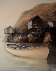 Beautiful Newfoundland artwork captured by artist Ted Stuckless Newfoundland Canada, Newfoundland And Labrador, Art Pictures, Photos, Art Pics, Nautical Art, Nautical Painting, Atlantic Canada, Ocean Sounds