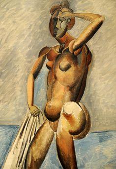 Pablo Picasso. Bather. winter 1908-09, detail. MoMA, NYC | by renzodionigi
