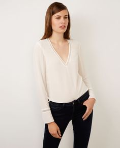 Blouse en soie Off white Byim