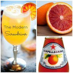 The Modern Screwdriver: Sparkling Blood Orange Vodka Cocktail - a daily pinch