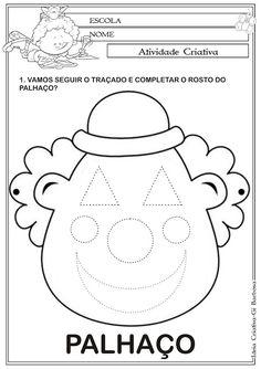 Ideia Criativa - Gi Barbosa Educação Infantil: Atividade Formas Geométricas Coordenação Motora Pr...