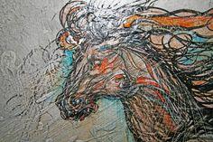 Pferd im Sprung - Tafelbild Painting, Art, Figurine, Pictures, Art Background, Painting Art, Kunst, Paintings, Performing Arts
