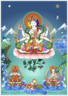 Képtalálatok a következőre: Drawn by Sange Wanchug Buddhist Art, Deities, Snow Globes, Coloring Pages, Draw, Digital, Birthday, Anime, Fictional Characters